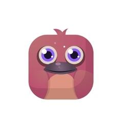 Bird Square Icon vector