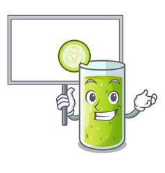 bring board character fresh juice of green vector image
