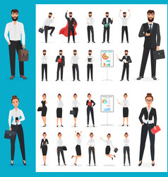 business man and business woman office vector image