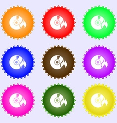 CD icon sign Big set of colorful diverse vector