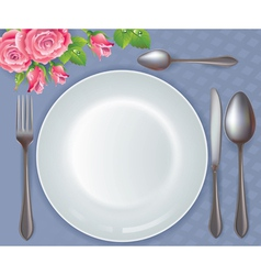 Celebratory tableware vector image