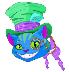 Cheshire cat in Top Hat vector image