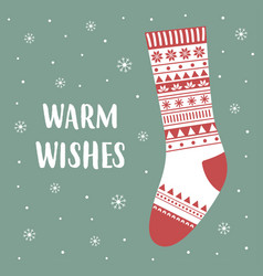 Cute card warm wishes vector