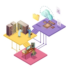 Datacenter Isometric vector image vector image