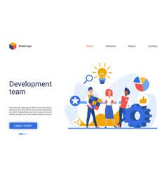 development teamwork creative vector image