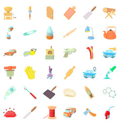 Dexterity icons set cartoon style vector