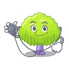 Doctor isolated weeping willow on the mascot vector