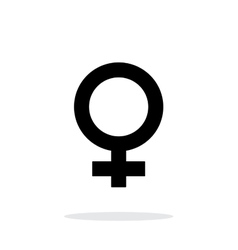 Female icon on white background vector