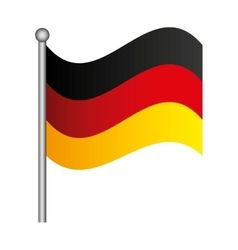 flag germany isolated icon vector image