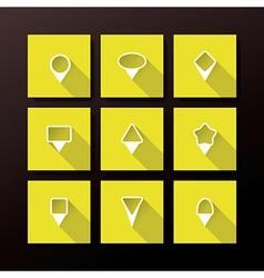 flat icon set - map pins vector image