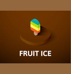 fruit ice isometric icon isolated on color vector image