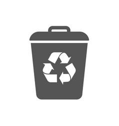 garbage trash can icon eco bio concept vector image