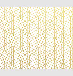 geometric abstract pattern gold background vector image