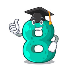 Graduation number house eight the shaped character vector