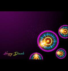 happy diwali celebration colorful background vector image