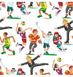 health sport seamless pattern background wellness vector image