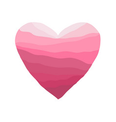heart-red-wave vector image
