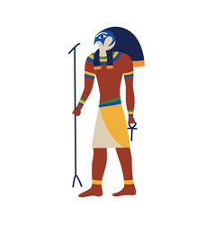Icon ancient egyptian god horus or ra vector