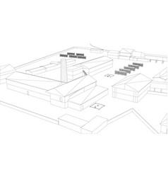 industrial building vector image
