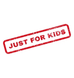 Just For Kids Text Rubber Stamp vector image