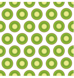 kiwi fruit seamless pattern vector image