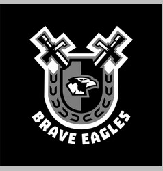logo brave eagles eagle head located on the vector image