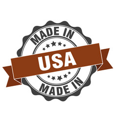 Made in usa round seal vector