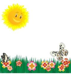 Meadow flowers vector image