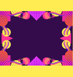 Memphis style frame geometric objects of the 80s vector