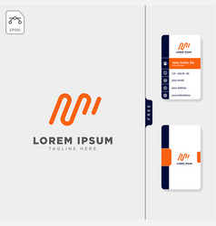Minimal m initial logo template free business vector