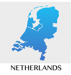 Netherlands map in europe continent design vector
