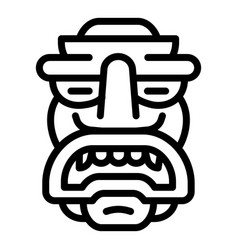Ornamental idol icon outline style vector