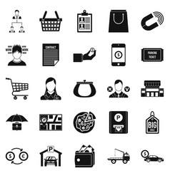 Outlay icons set simple style vector