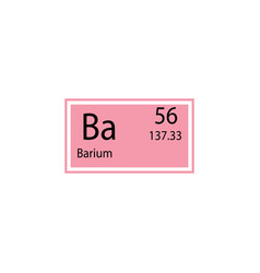 periodic table element barium icon element of vector image
