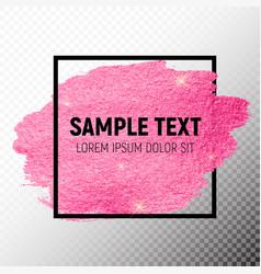 Pink paint glittering textured art vector