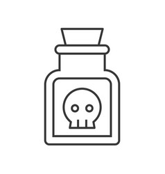 poison or potionvoodoo or black magic ingredient vector image
