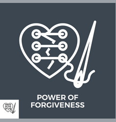 power forgiveness vector image