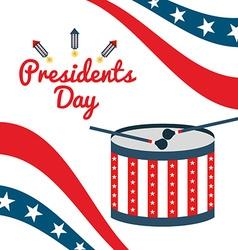 Presidents day design vector