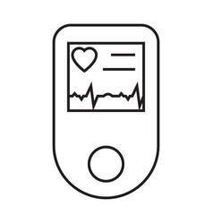 Pulse oximeter simple medicine icon in trendy vector