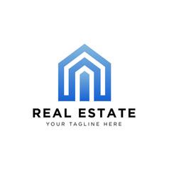 Real estate logo design eps 10 vector