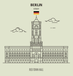 red town hall in berlin vector image