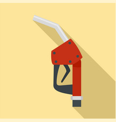 refill fuel pistol icon flat style vector image