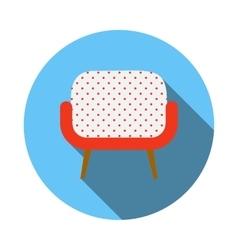 Retro armchair icon flat style vector