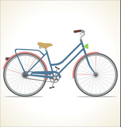 retro vintage bicycle isolated on white background vector image