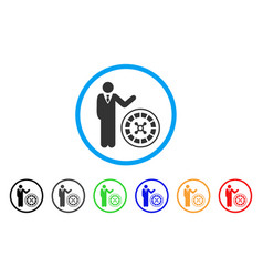 Roulette croupier icon vector