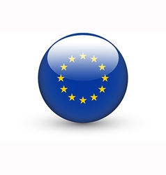 Round icon with national flag of European Union vector image