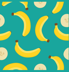 seamless pattern with yellow bananas on a vector image