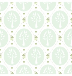 Shabby chic pattern with trees vector