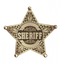Sheriff star vector