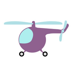 Small cartoon helicopter vector